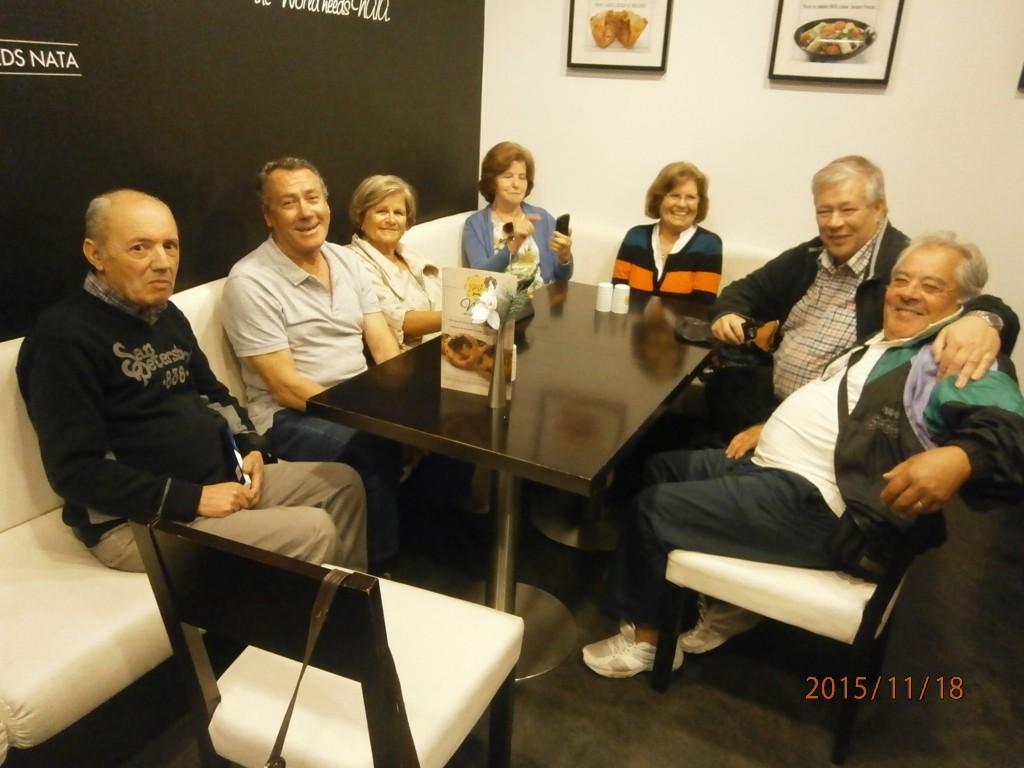 Virallisten kokousten jälkeen oli tavattiin vanhoja ystäviä edellisten projektien ajoilta.